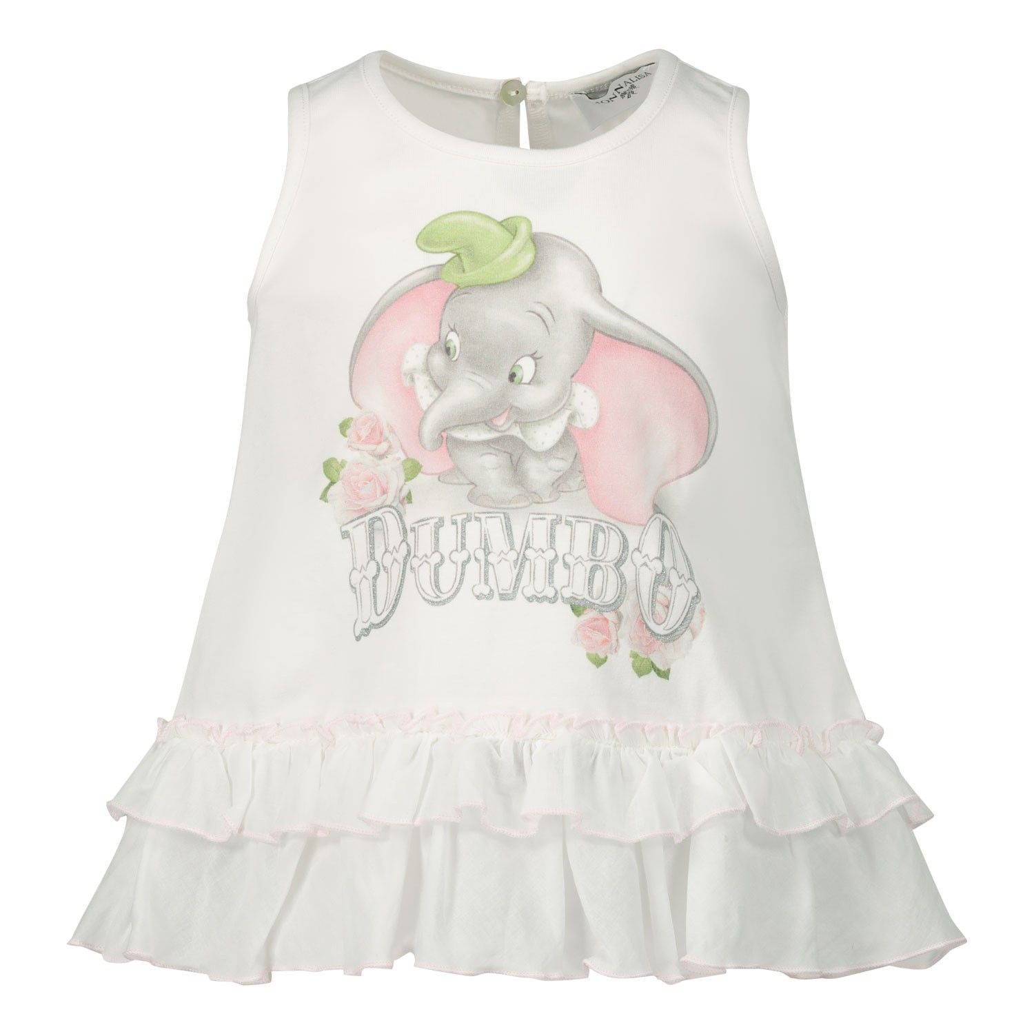 Picture of MonnaLisa 395610SD baby tunic off white
