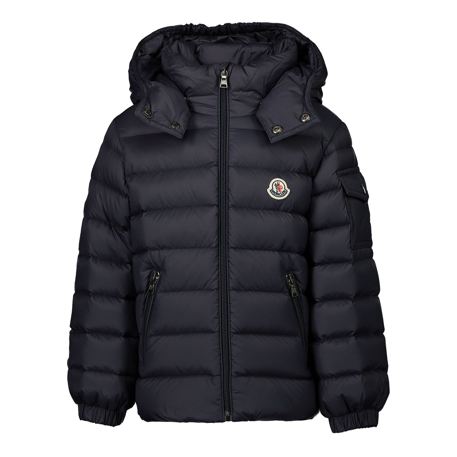 Picture of Moncler 1A52500 baby coat navy