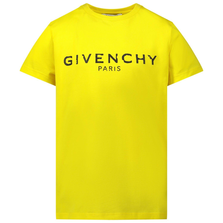 Afbeelding van Givenchy H25H47 kinder t-shirt geel