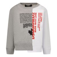 Picture of Dsquared2 DQ0074 baby sweater white