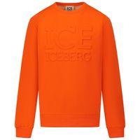 Picture of Iceberg MFICE0305J kids sweater fluoro orange