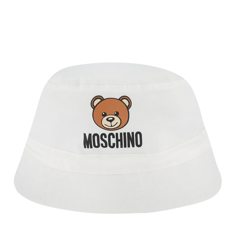 Afbeelding van Moschino MYX032 baby hoedje wit