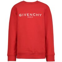 Picture of Givenchy H25J45 kids sweater red
