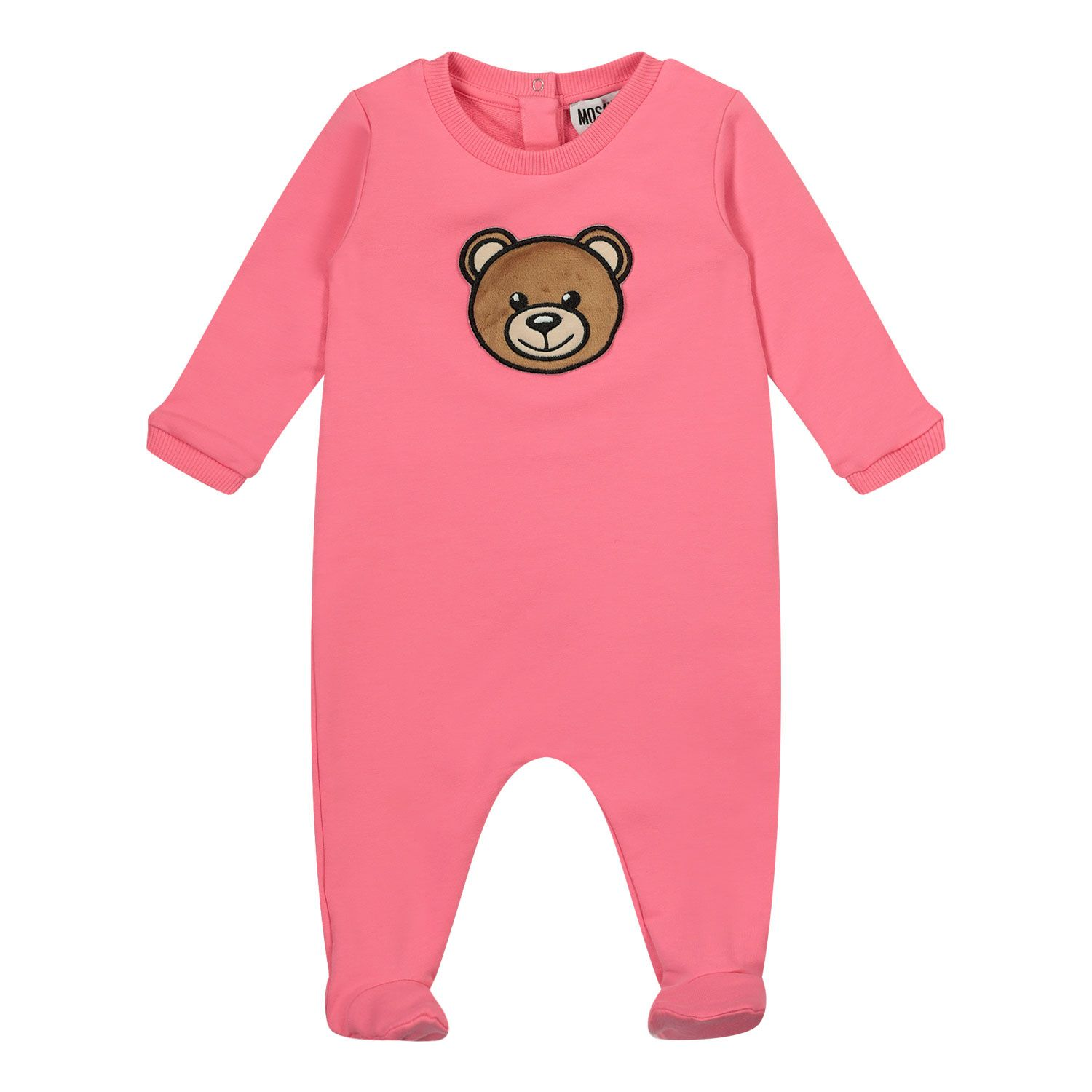 Picture of Moschino MPT01J baby playsuit pink