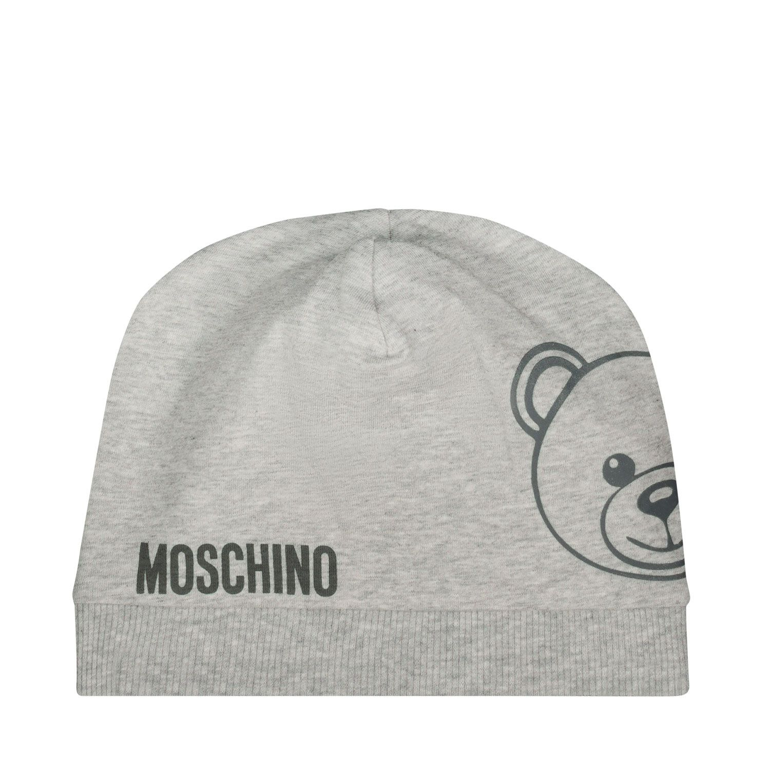 Picture of Moschino MNX035 baby hat grey