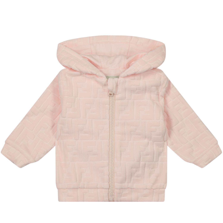 Afbeelding van Fendi BUH028 ACA8 baby vest licht roze