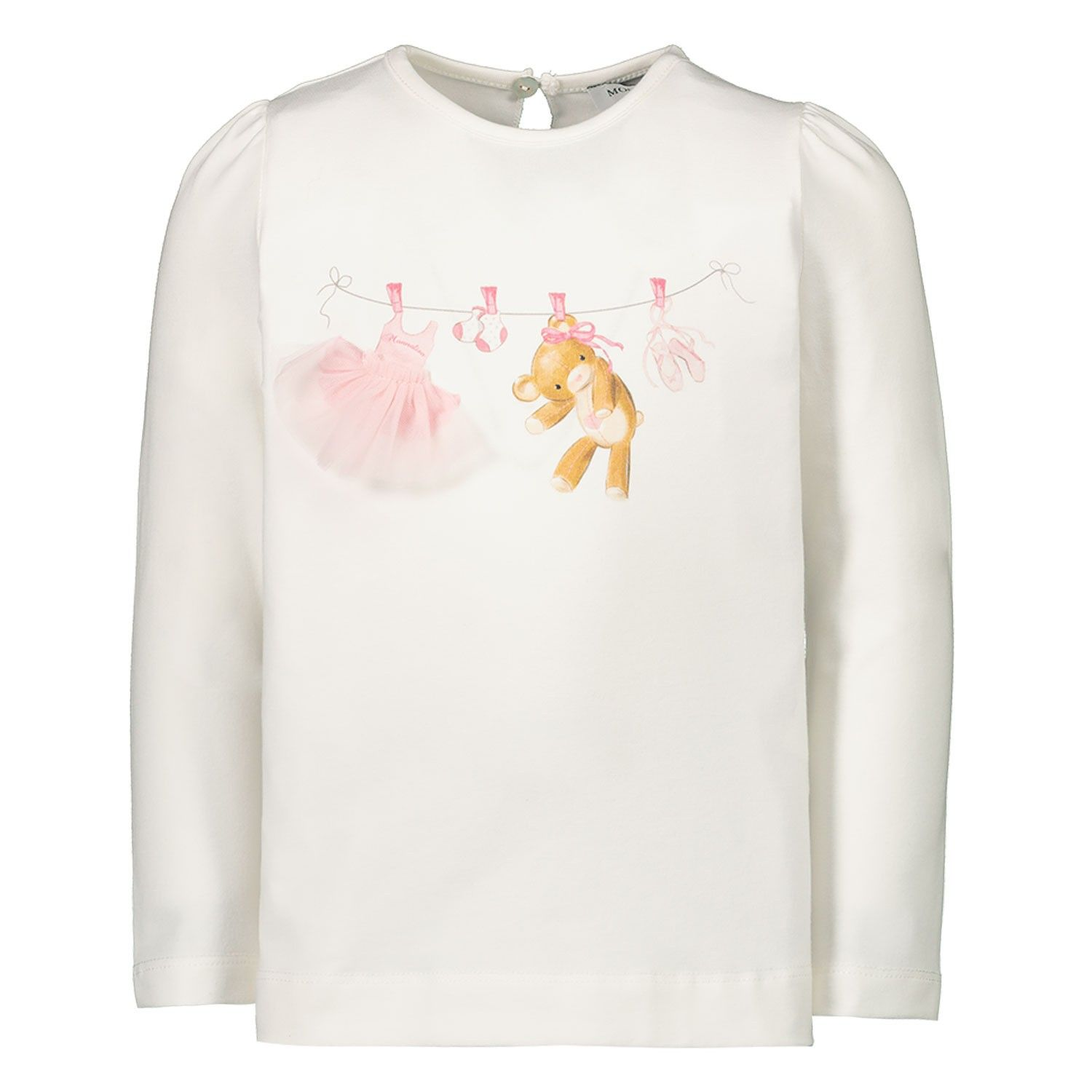 Picture of MonnaLisa 396603SB baby shirt off white