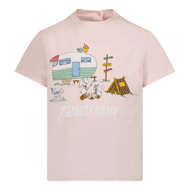 Bild von Fendi BUI030 ST8 Baby-T-Shirt Hellrosa