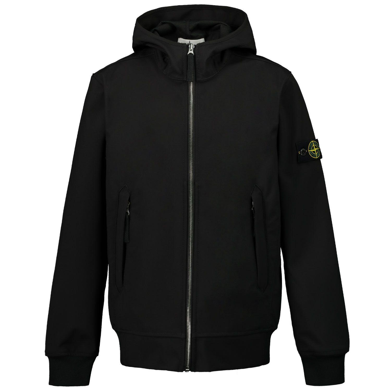 Picture of Stone Island 40134 kids jacket black