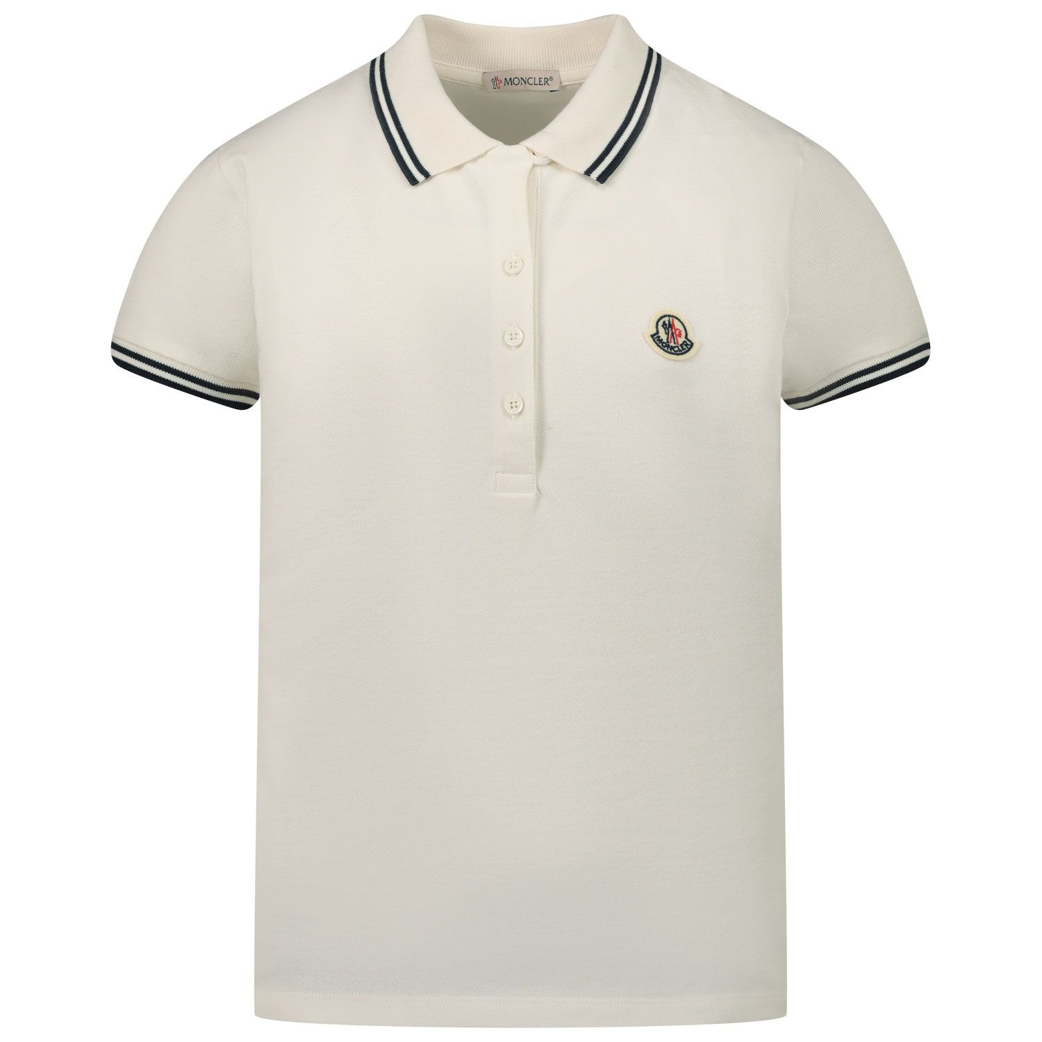Picture of Moncler 8A70010 kids polo shirt off white