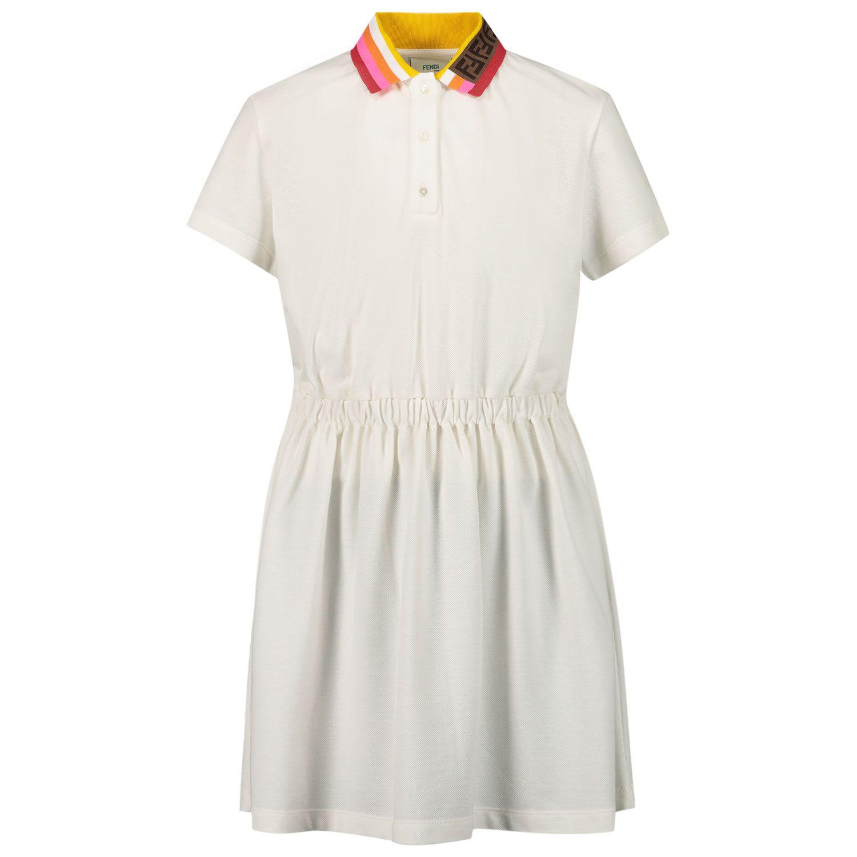Picture of Fendi JFB428 AVP kids dress white