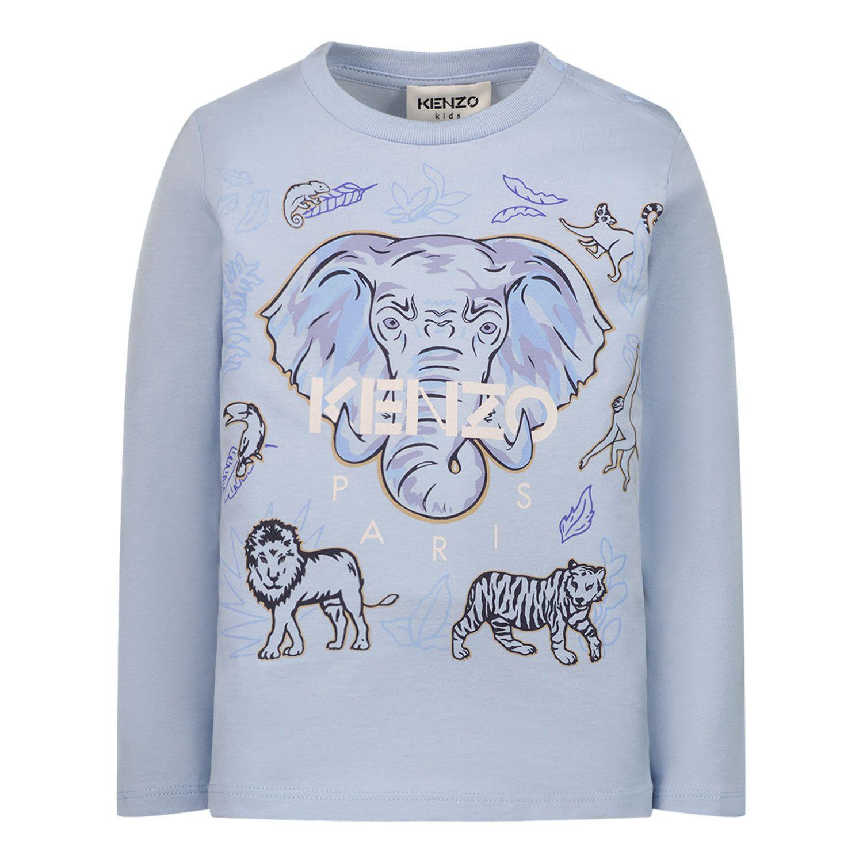 Afbeelding van Kenzo K05111 baby t-shirt licht blauw