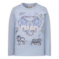 Picture of Kenzo K05111 baby shirt light blue