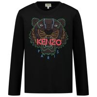 Picture of Kenzo KR10738 kids t-shirt black