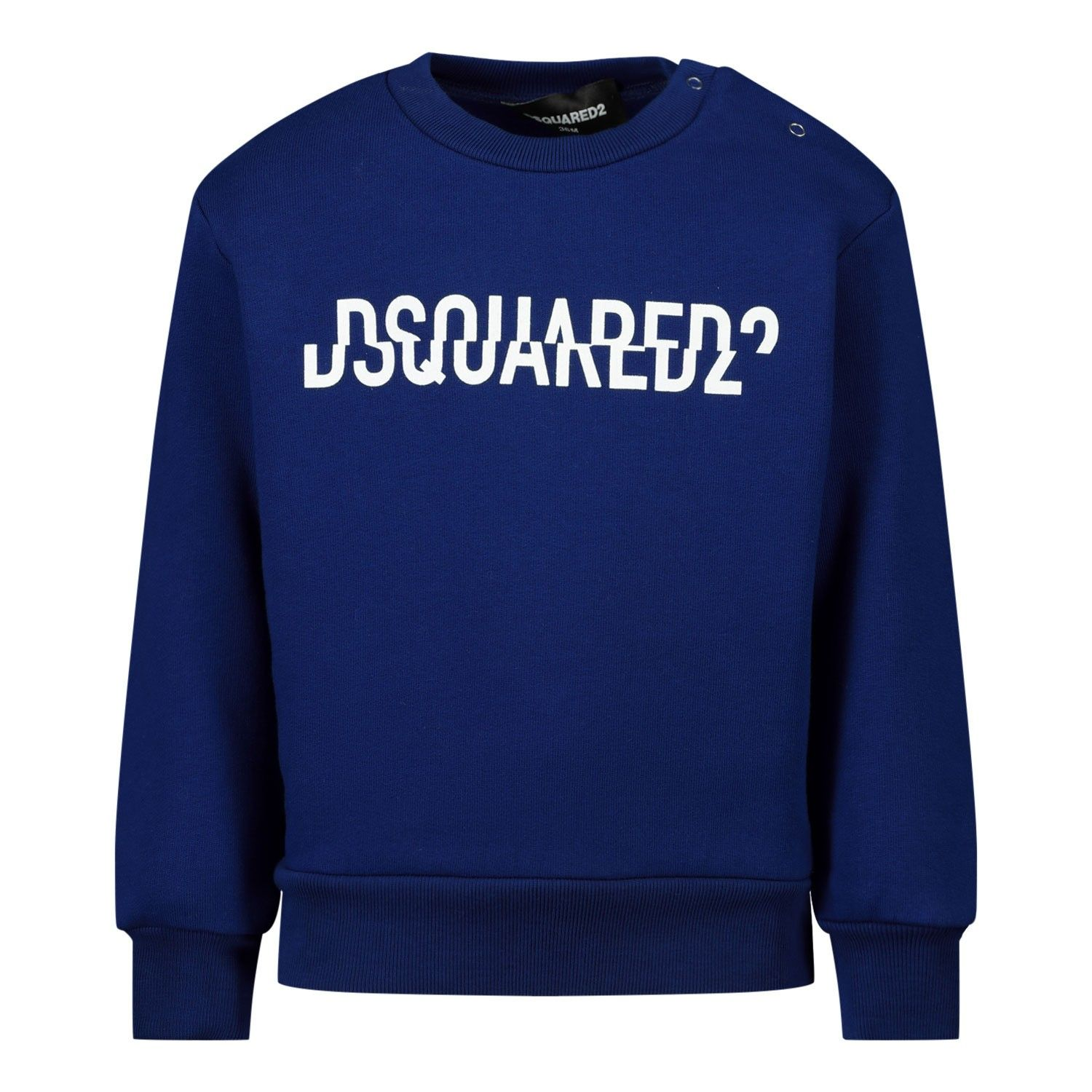 Picture of Dsquared2 DQ04DY baby sweater cobalt blue