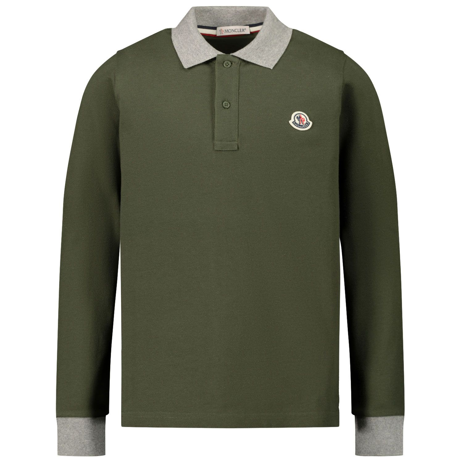 Picture of Moncler 8B70820 kids polo shirt green