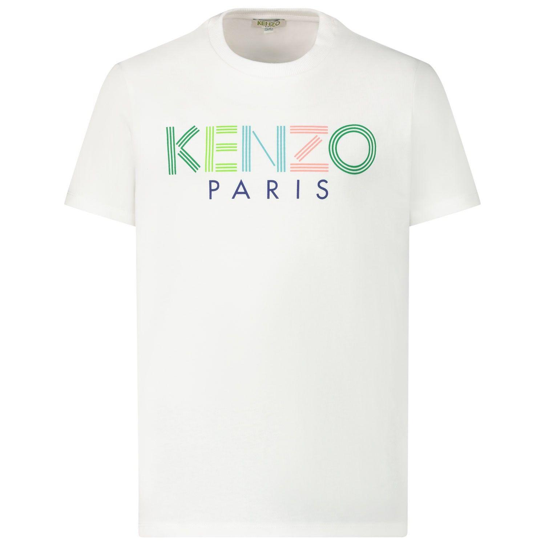 Afbeelding van Kenzo 10638 kinder t-shirt wit