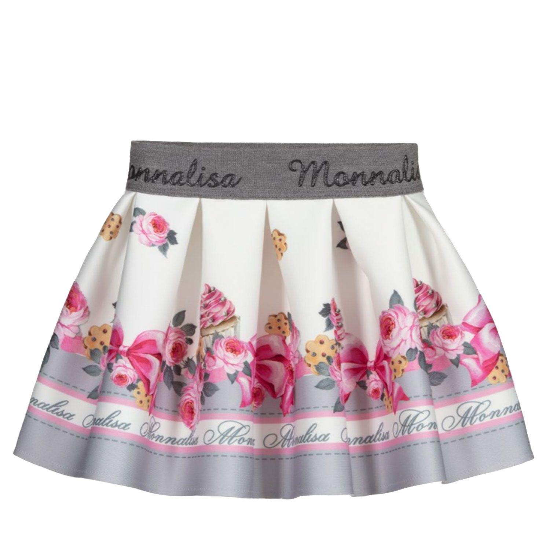 Picture of MonnaLisa 318700 baby skirt ecru