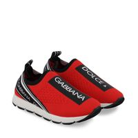 Picture of Dolce & Gabbana D10723 AH677 kids sneakers red