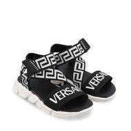 Afbeelding van Versace 1000252 kindersandalen zwart/wit