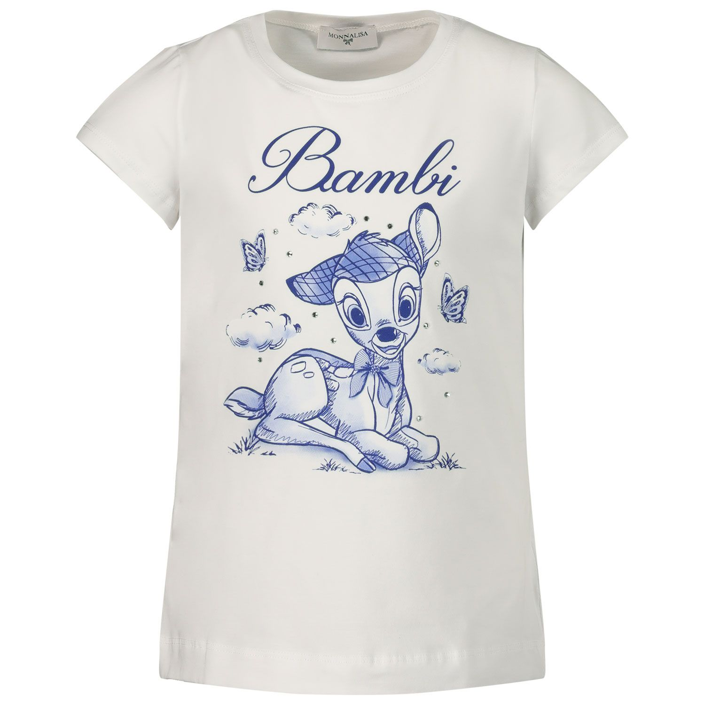 Afbeelding van MonnaLisa 117631PP kinder t-shirt wit