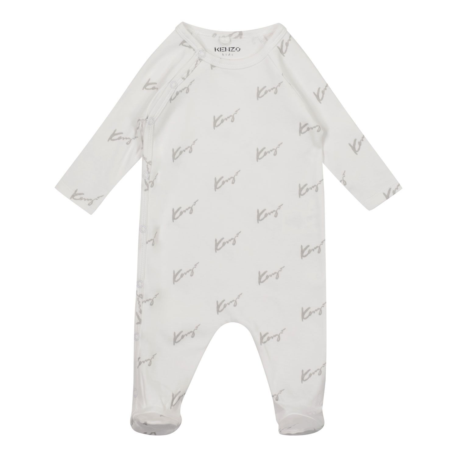 Picture of Kenzo K90016 baby playsuit white