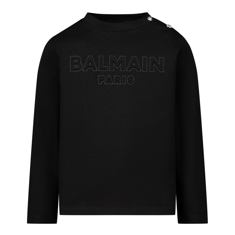 Picture of Balmain 6N8850 baby shirt black