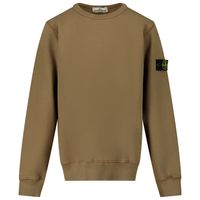 Picture of Stone Island MO731661340 kids sweater camel