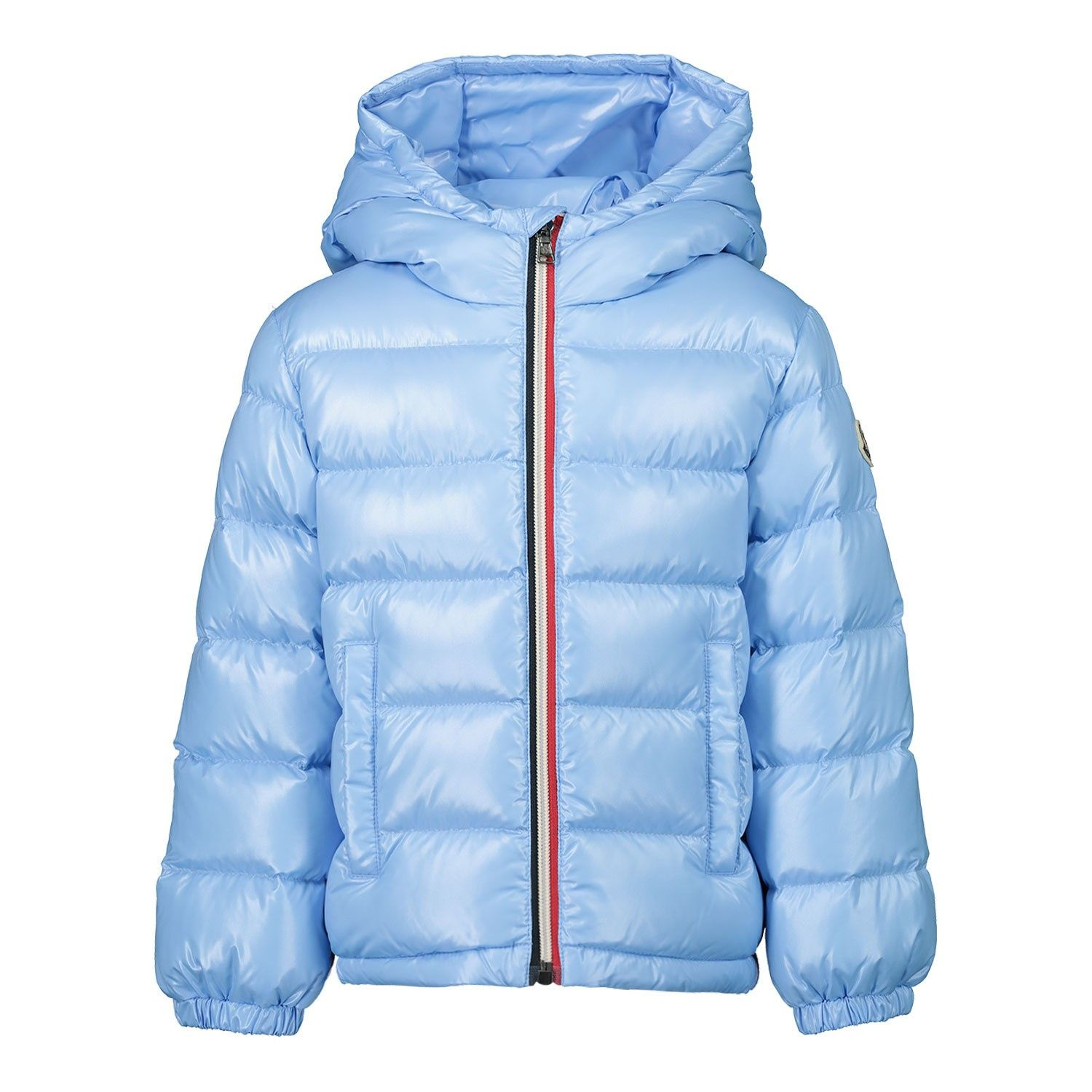 Picture of Moncler 1A53520 baby coat light blue