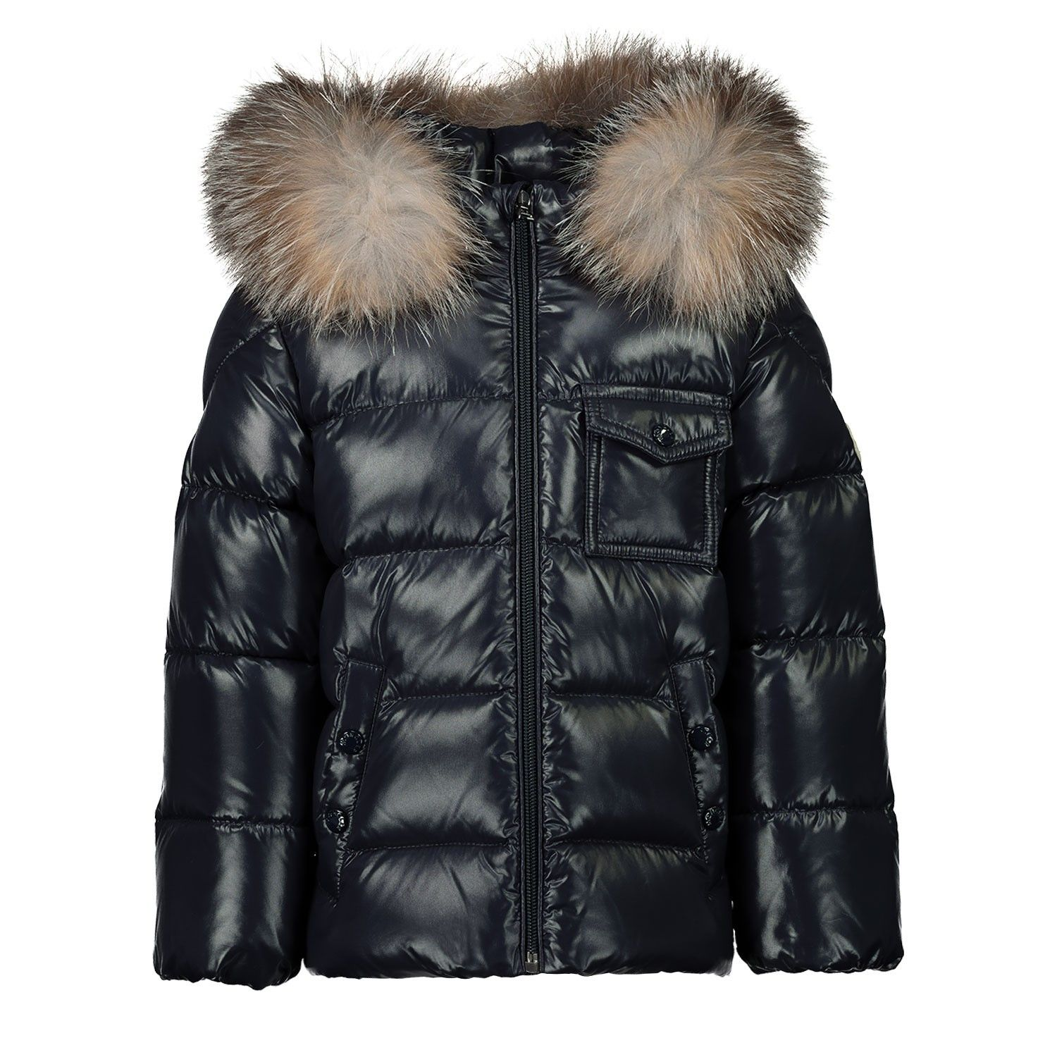 Picture of Moncler 1A52602 baby coat navy