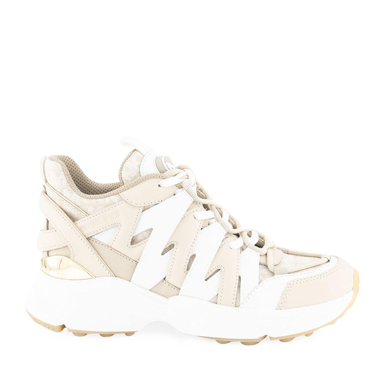 Afbeelding van Michael Kors 43S0HRFS1L dames sneakers zand/wit
