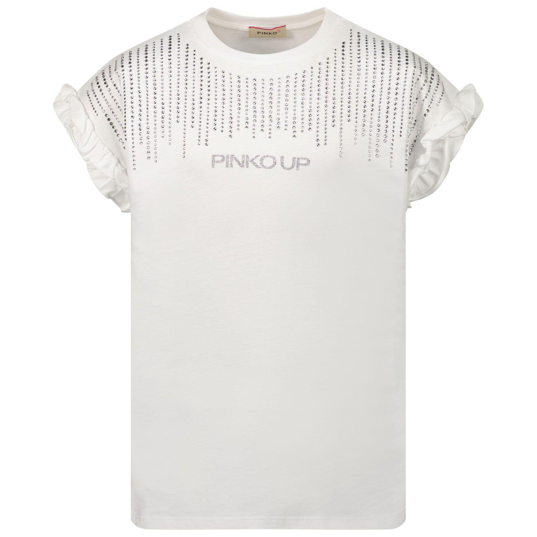 Picture of Pinko 027169 kids t-shirt white