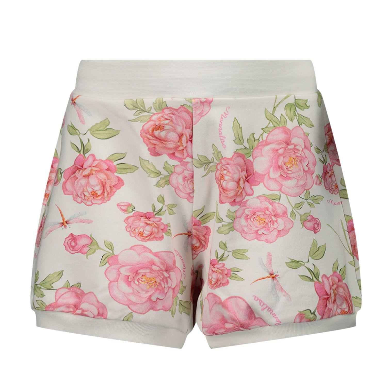 Afbeelding van MonnaLisa 397401 baby shorts off white/roze