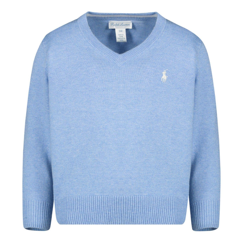 Afbeelding van Ralph Lauren 320702188 baby trui licht blauw