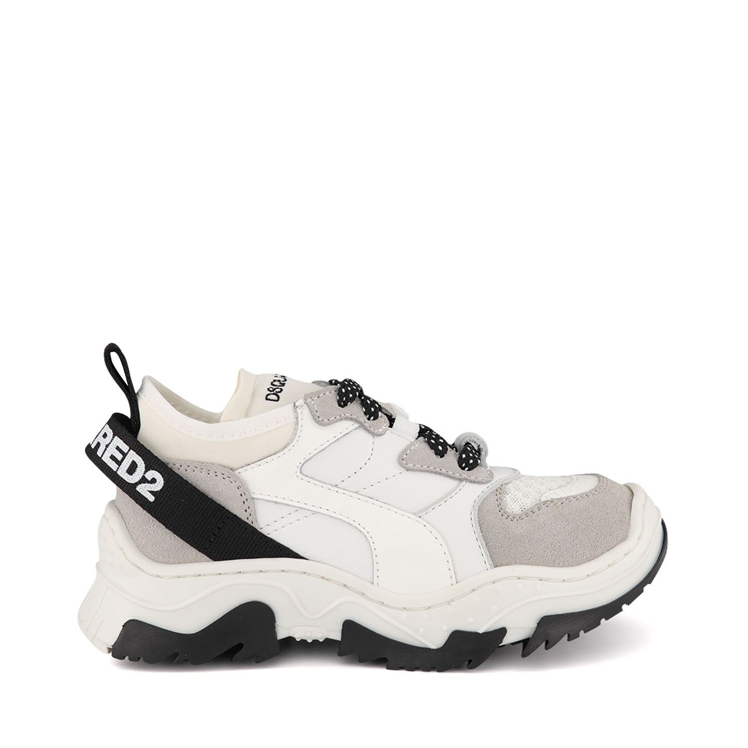 Picture of Dsquared2 63467 kids sneakers white