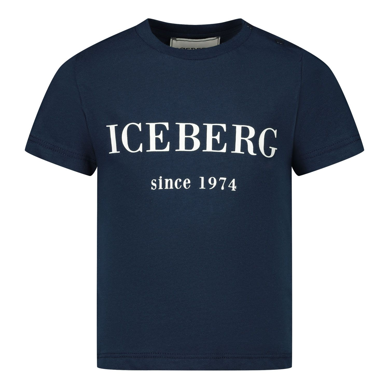 Picture of Iceberg TSICET1103B baby shirt navy