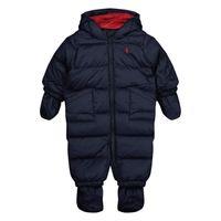 Picture of Ralph Lauren 320766060 baby snowsuit navy