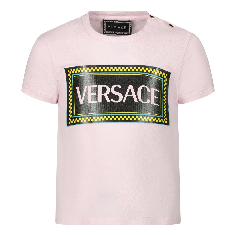 Afbeelding van Versace YA000150 baby t-shirt licht roze
