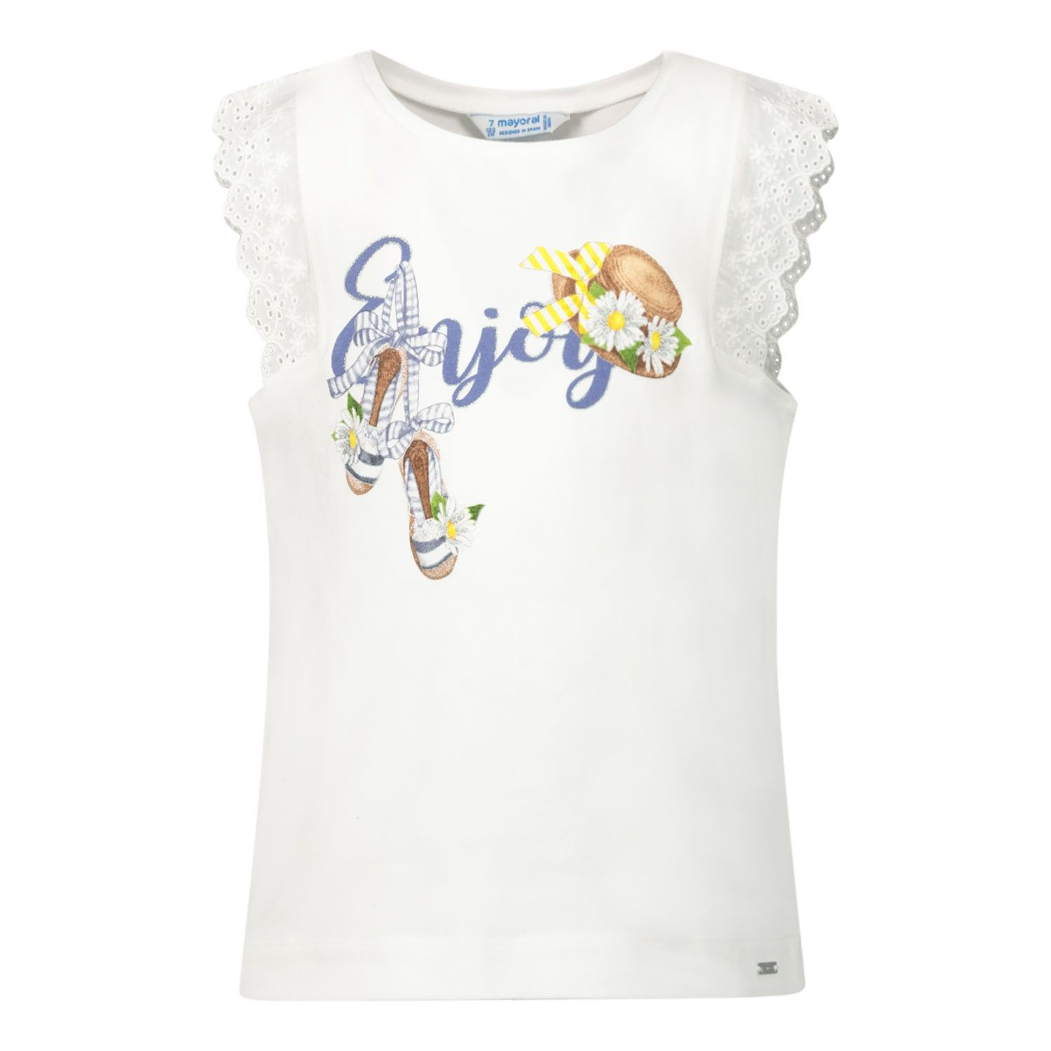 Picture of Mayoral 3024 kids t-shirt white
