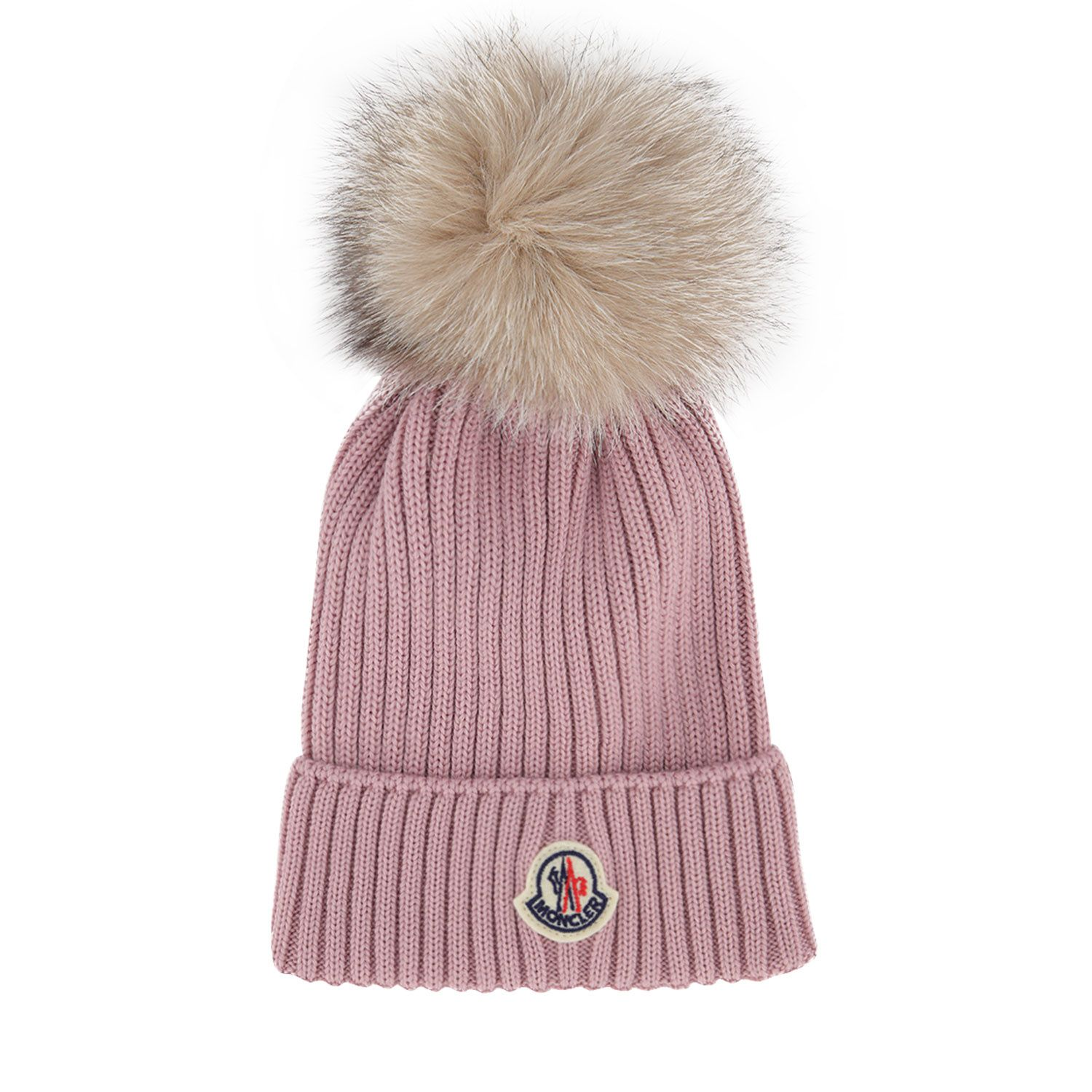 Picture of Moncler 3B71110 kids hat light pink
