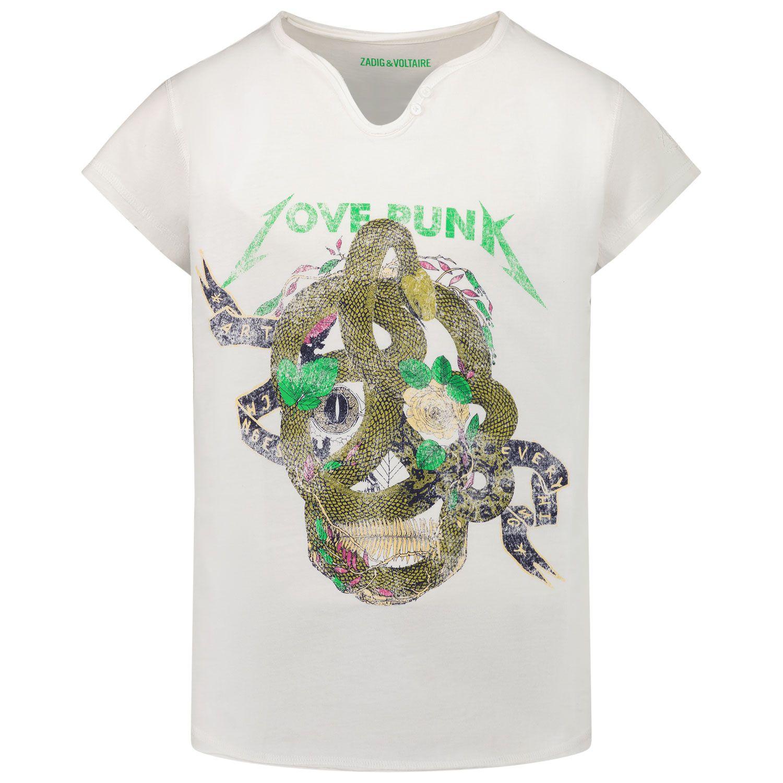 Afbeelding van Zadig & Voltaire X15281 kinder t-shirt off white