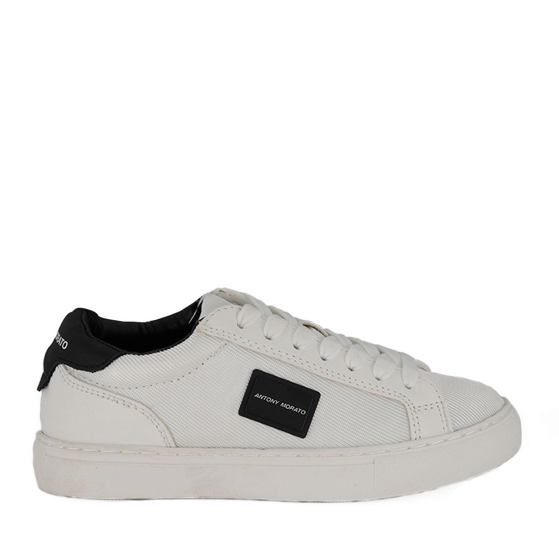 Picture of Antony Morato MKFW00141 kids sneakers white