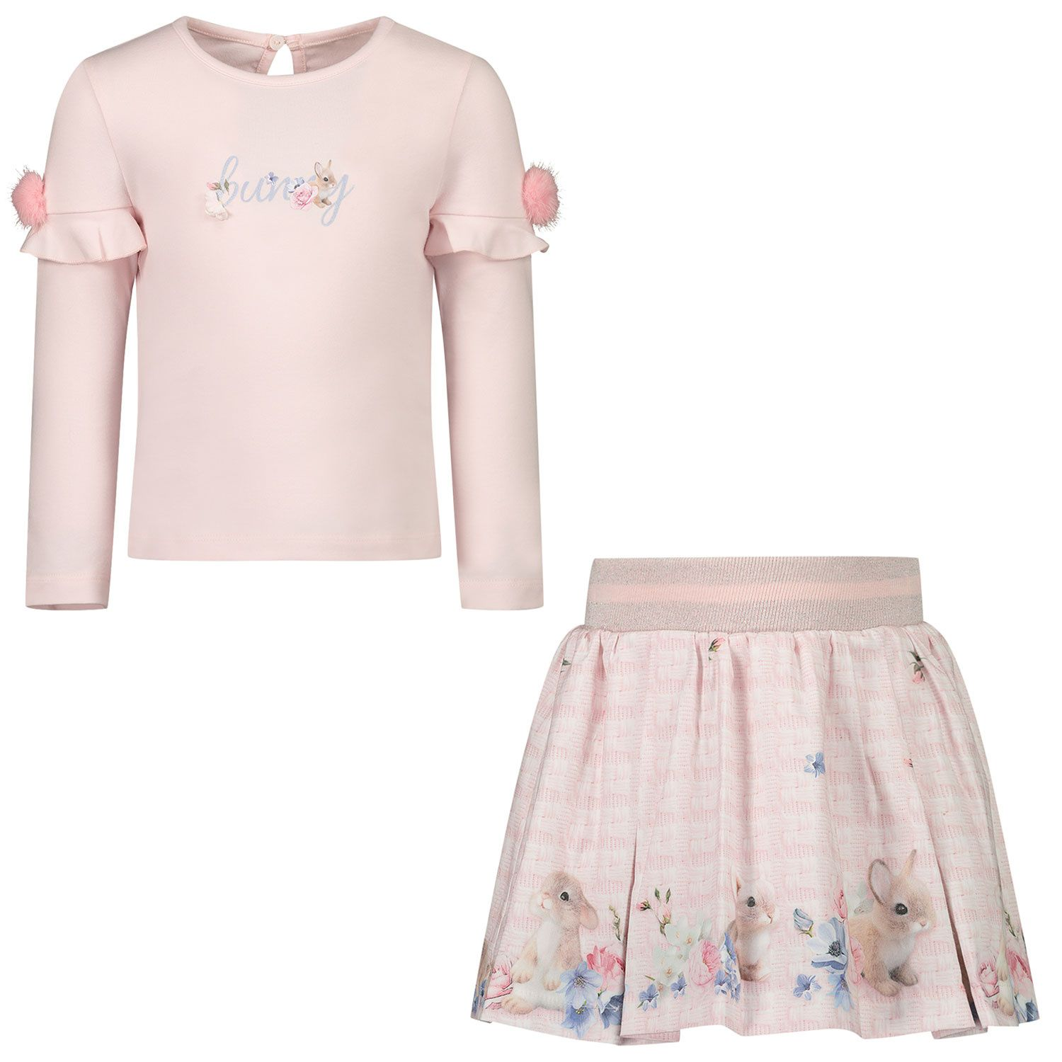 Picture of Lapin 202E5431 baby set light pink