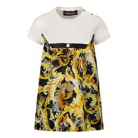 Picture of Versace 1A01356 baby dress white