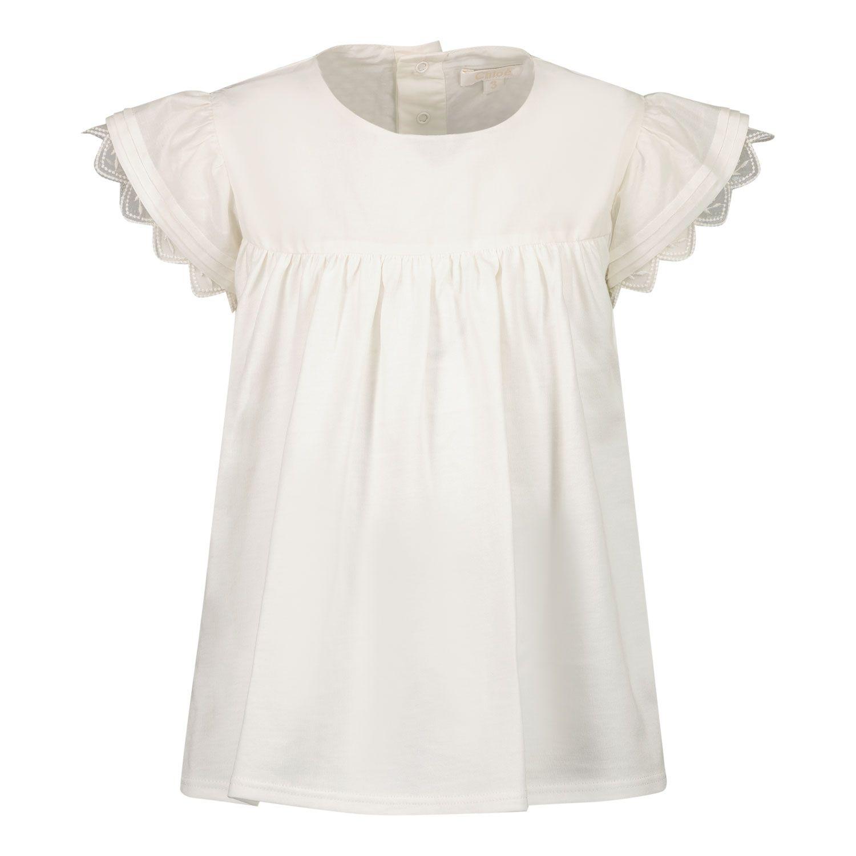 Afbeelding van Chloé C05363 baby t-shirt off white