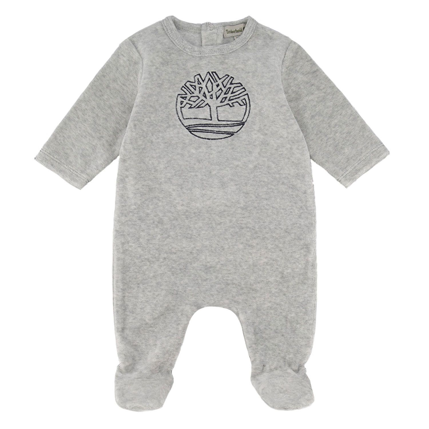 Picture of Timberland T97337 baby playsuit light gray