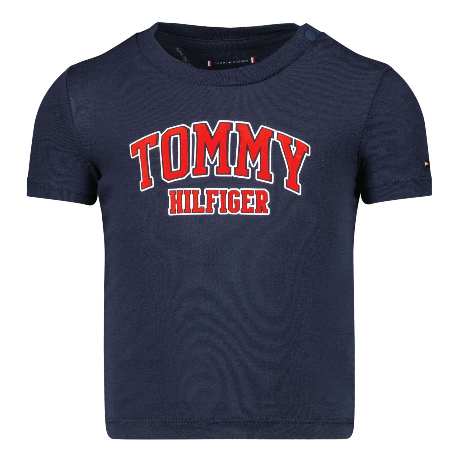 Picture of Tommy Hilfiger KN0KN01272 baby shirt navy