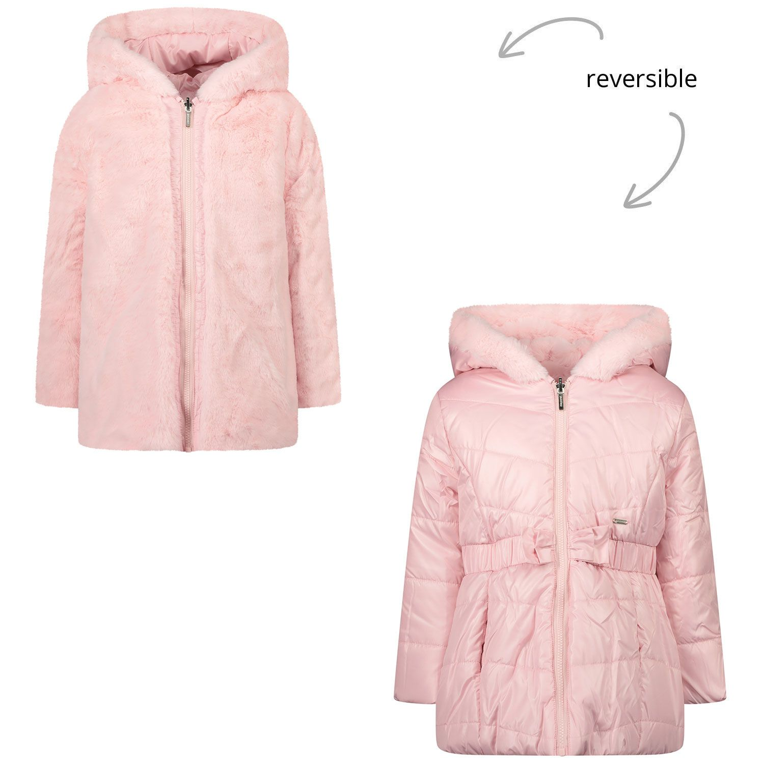 Picture of Mayoral 2412 baby coat light pink
