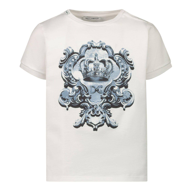 Picture of Dolce & Gabbana L1JT6M G7YBK baby shirt white