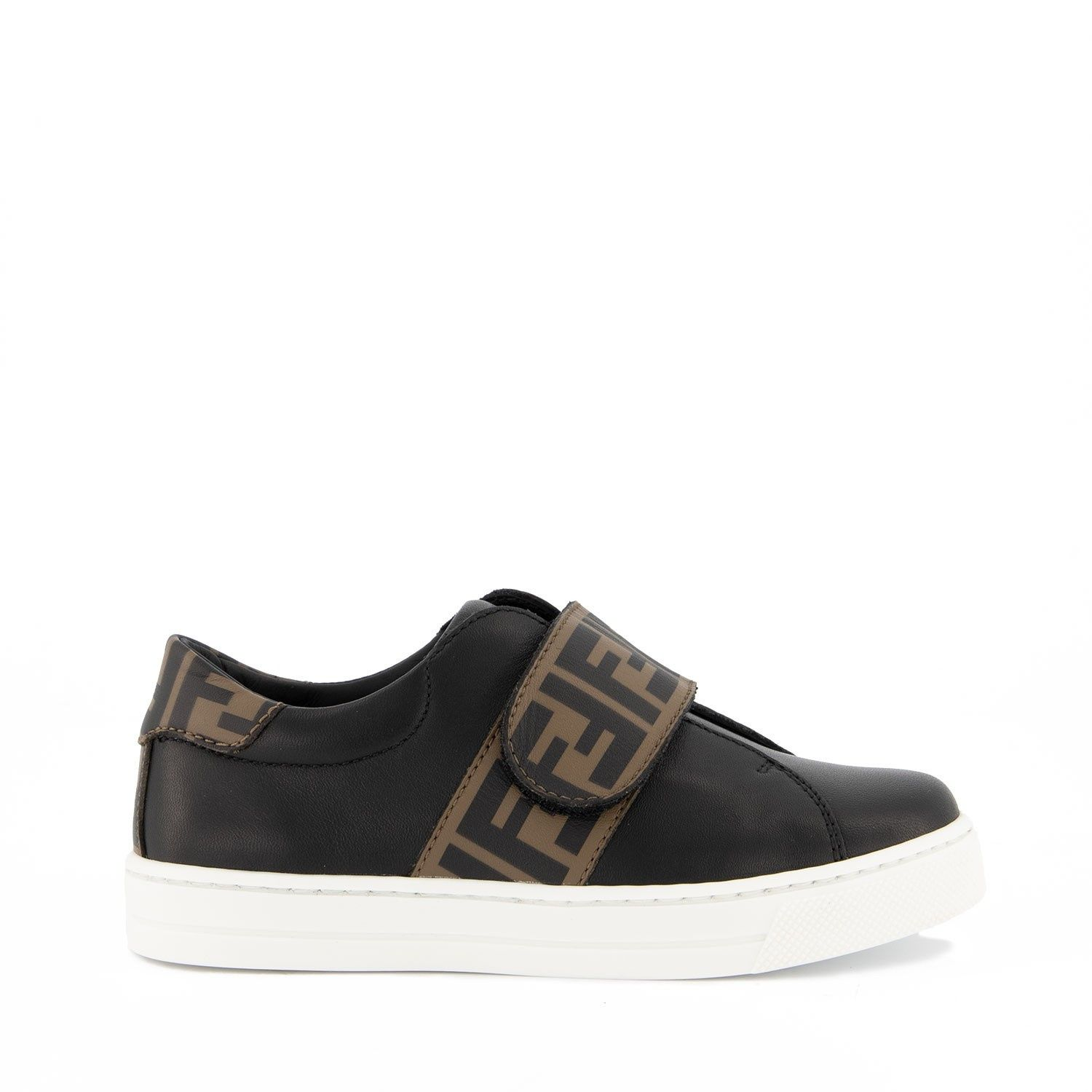 Picture of Fendi JMR326 kids sneakers black